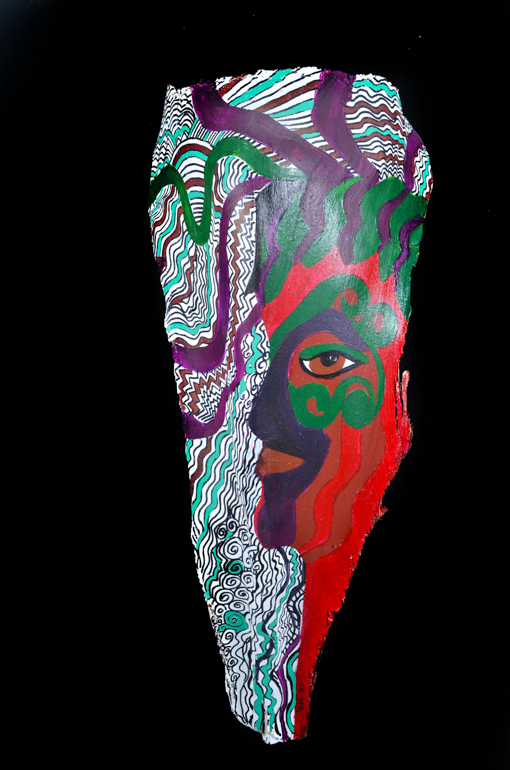 "Head of State #2, Approx. 28"" x 10"" x 6"", Sold"